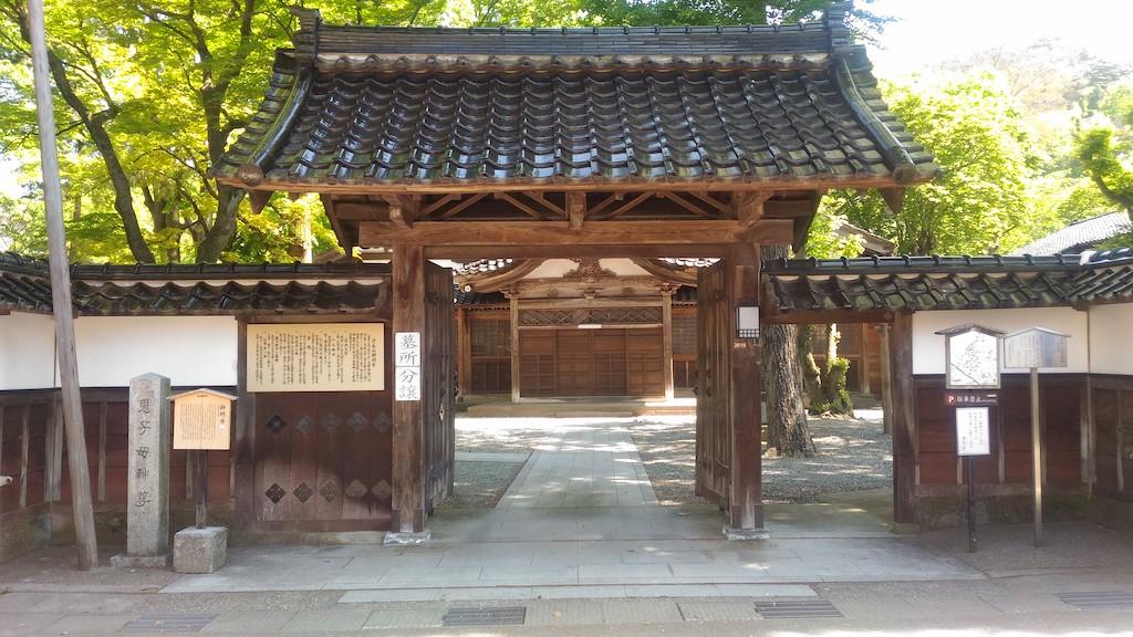 徳田秋声の小説にも登場する「静明寺」は、「心の道(金沢)」の始まりの場所