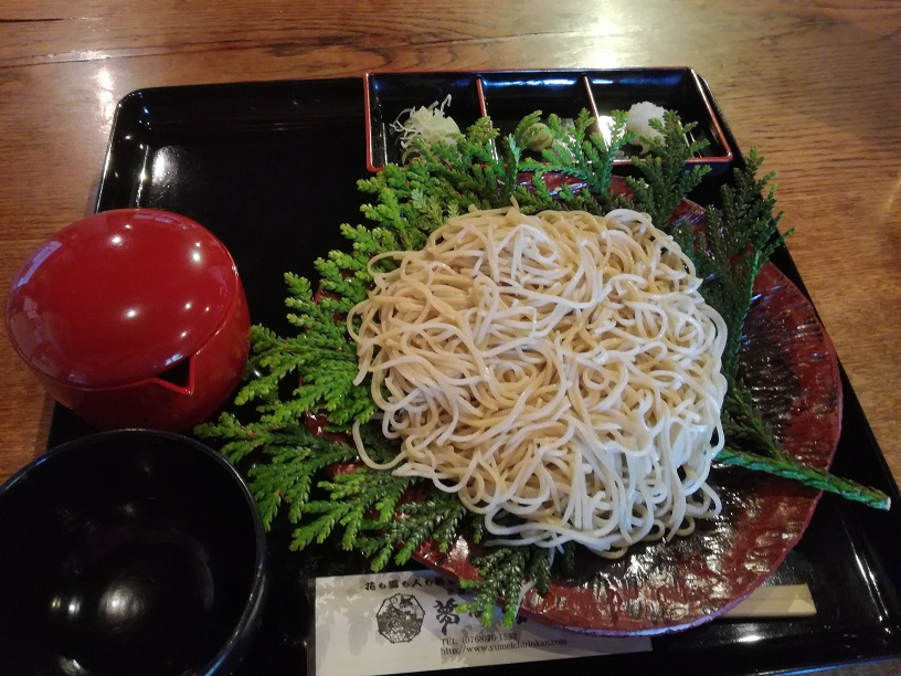 能登旅行のランチに夢一輪館で食べたこだわりのお蕎麦と能登牛のお味