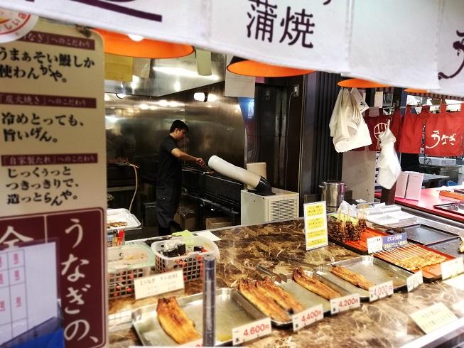 近江町市場のお手軽スナック、川木商店の塩焼き鮎